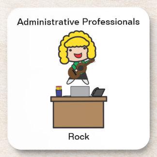 Administrative Professionals Rock (Blonde) Beverage Coaster
