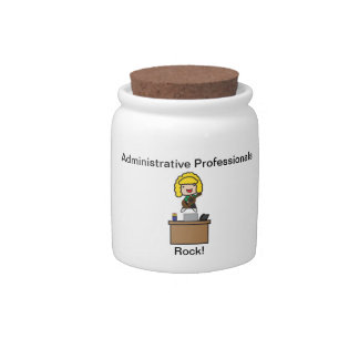 Administrative Professionals Rock (Blonde) Candy Jars