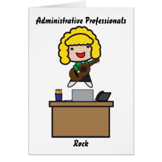 Administrative Professionals Rock (Blonde) Cards