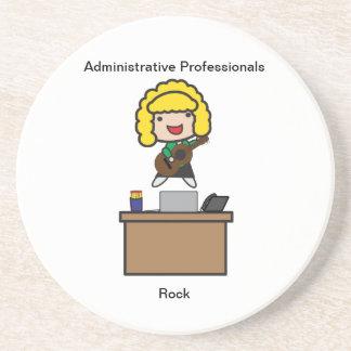 Administrative Professionals Rock (Blonde) Drink Coaster