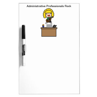 Administrative Professionals Rock (Blonde) Dry Erase Whiteboards