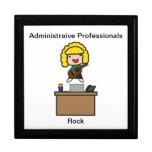 Administrative Professionals Rock (Blonde) Keepsake Box