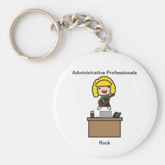 Administrative Professionals Rock (Blonde) Keychain