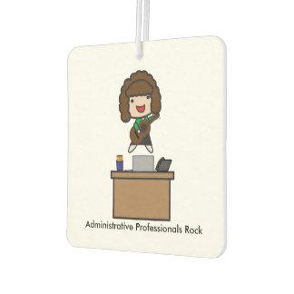 Administrative Professionals Rock (Brunette) Car Air Freshener