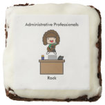 Administrative Professionals Rock (Brunette) Square Brownie