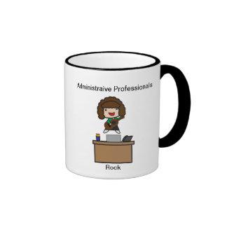 Administrative Professionals Rock (Brunette) Ringer Mug