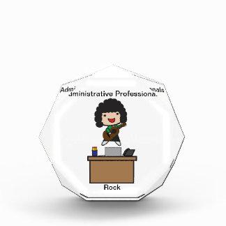 Administrative Professionals Rock (Dark Hair) Acrylic Award
