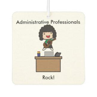 Administrative Professionals Rock (Dark Hair) Car Air Freshener