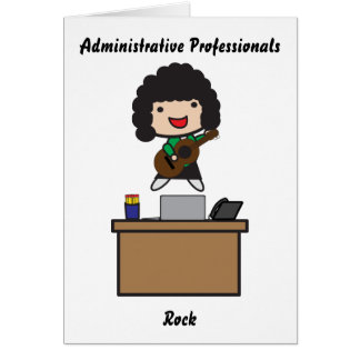 Administrative Professionals Rock (dark hair) Greeting Cards