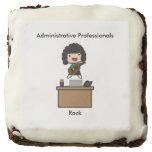 Administrative Professionals Rock (Dark Hair) Square Brownie