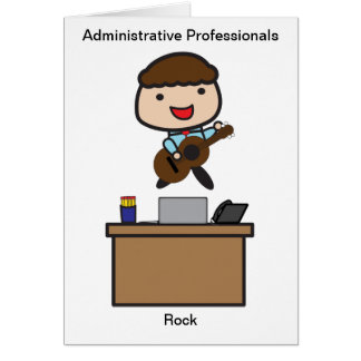 Administrative Professionals Rock (Male) Greeting Cards