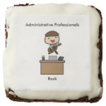 Administrative Professionals Rock (Male) Square Brownie