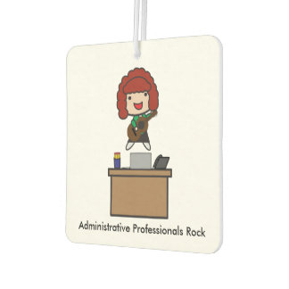 Administrative Professionals Rock (Red Haired) Air Freshener