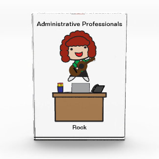 Administrative Professionals Rock (Red Haired) Award