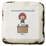 Administrative Professionals Rock (Red Haired) Square Brownie
