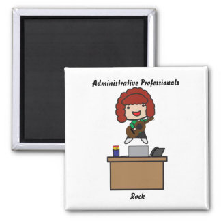 Administrative Professionals Rock (RedHair) Magnet