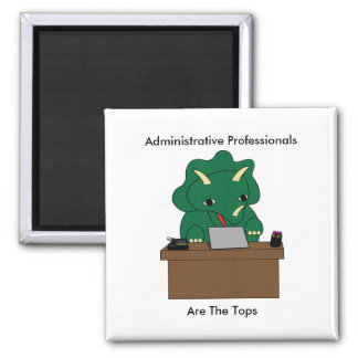 Administrative Professionals Top Triceratops Dinos Magnet