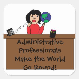 Administrative Professionals World Square Sticker