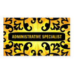 Administrative Specialist Sunshine Damask Business Card