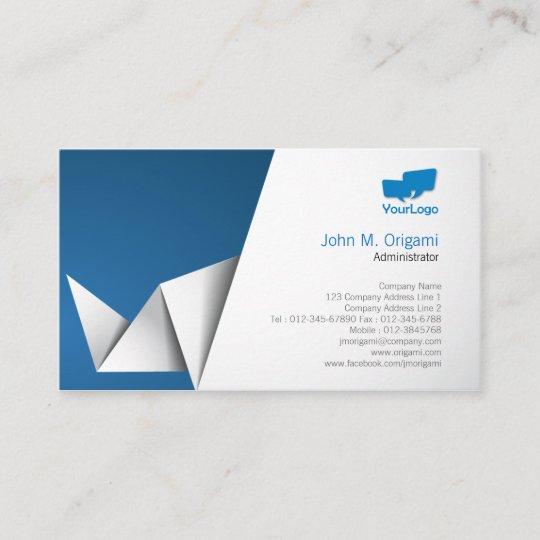 Administrator Business Card Origami Folds Zazzle