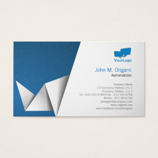 Administrator Business Card Origami Folds