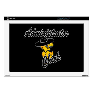 Administrator Chick #4 Decals For Laptops