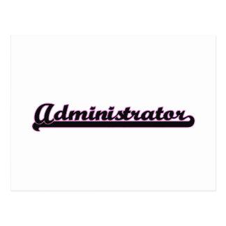 Administrator Classic Job Design Postcard