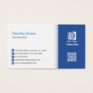 Administrator Finance Management Professional Business Card