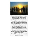 Admiración de la puesta del sol tarjeta fotografica personalizada