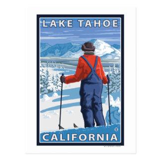 Admiración del esquiador - el lago Tahoe, Postales