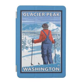 Admiración del esquiador - pico del glaciar, cubierta de iPad mini