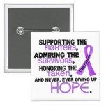 Admiración favorable honrando al cáncer 3,2 pin