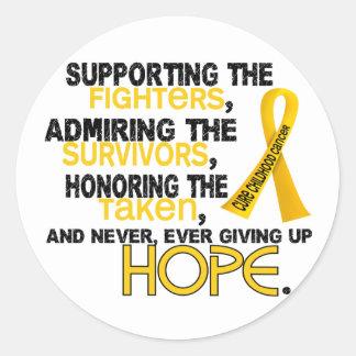 Admiración favorable honrando al cáncer de 3,2 pegatina redonda