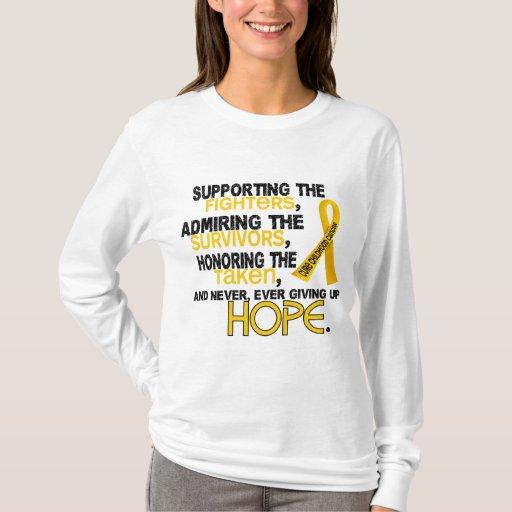 Admiración favorable honrando al cáncer de 3,2 playera
