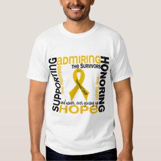 Admiración favorable honrando al cáncer de 9 polera