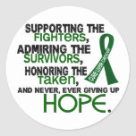 Admiración favorable honrando al cáncer de hígado  pegatinas