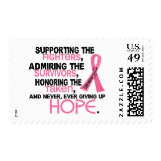 Admiración favorable honrando al cáncer de pecho 3