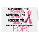Admiración favorable honrando al cáncer de pecho 3 tarjetón