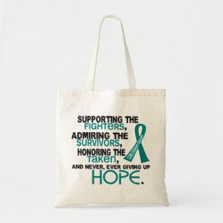 Admiración favorable honrando al cáncer ovárico 3, bolsa tela barata