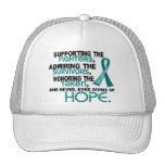 Admiración favorable honrando al cáncer ovárico 3, gorro de camionero