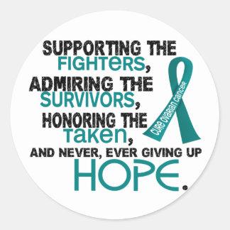 Admiración favorable honrando al cáncer ovárico pegatinas redondas