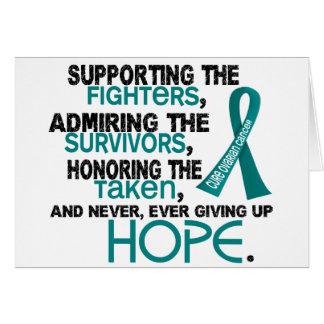 Admiración favorable honrando al cáncer ovárico tarjeta de felicitación