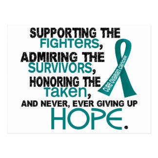 Admiración favorable honrando al cáncer ovárico tarjeta postal