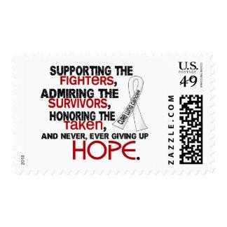 Admiración favorable honrando el cáncer de pulmón estampilla