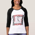 Admiración favorable honrando el cáncer de pulmón  camiseta