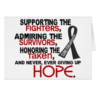 Admiración favorable honrando el melanoma 3,2 tarjeta de felicitación