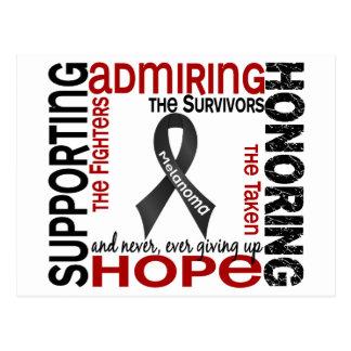 Admiración favorable honrando el melanoma 9 tarjeta postal