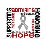 Admiración favorable honrando el tumor cerebral 9 tarjeta postal