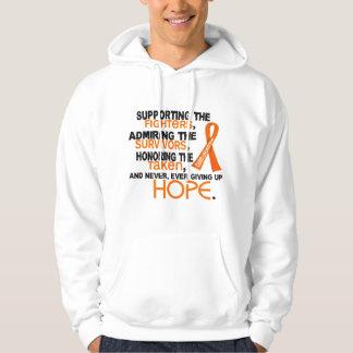Admiración favorable honrando la leucemia 3,2 sudadera