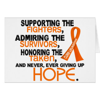 Admiración favorable honrando la leucemia 3,2 tarjeta de felicitación